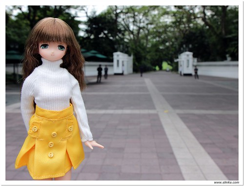 Mia outside Istana