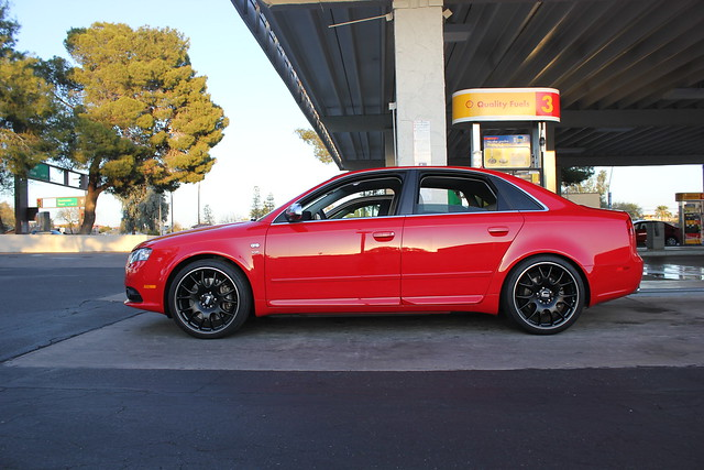 2012 Audi S4 Red with Black Rims