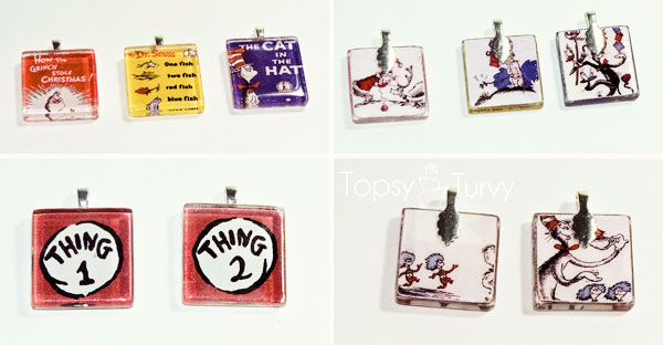 seuss-cat-hat-birthday-party-glass-tile-necklace