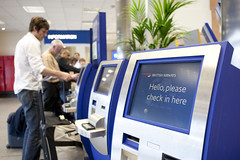 Selfservice Check-in, Landside at London City Airport (1)