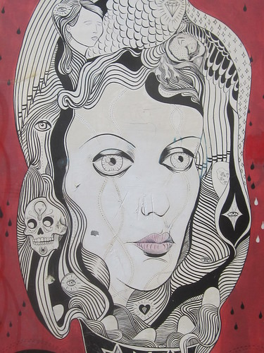 Wall Mural: Detailed Female Portrait