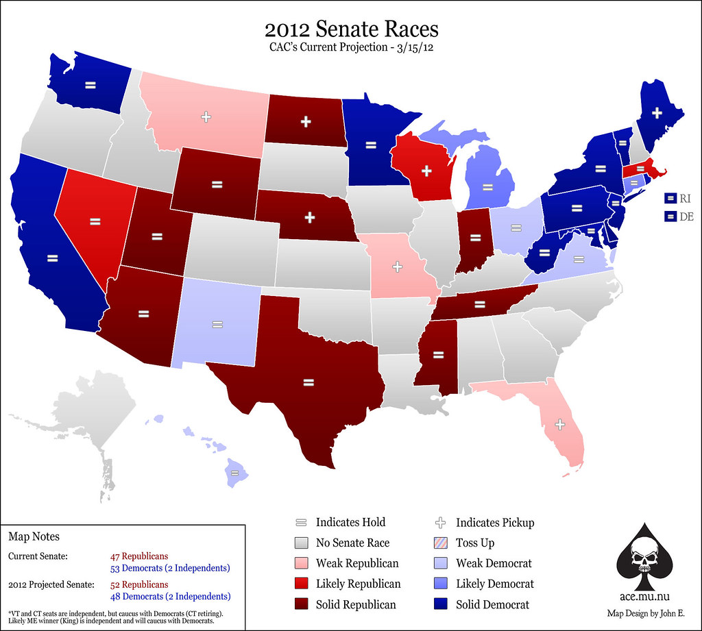 Ace Of Spades HQ - Us senate projection map