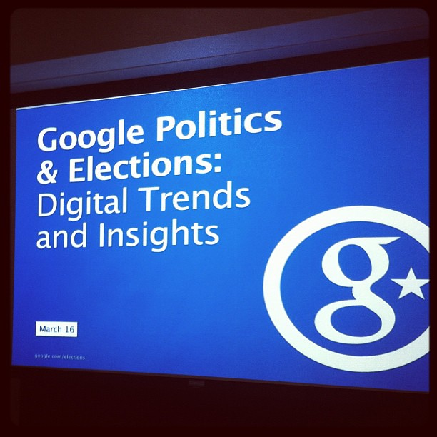 Lunch with @stiles @ethanklapper @ginnyhunt et al to hear about new elections tech http://google.com/elections