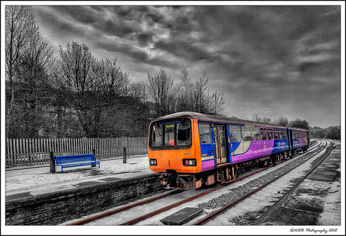 uk winter england snow station train sheffield yorkshire tracks railway hdr pontefract selectivecolour photomatix efs1022mmf3545usm canon40d baghill nhbphotography