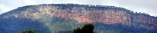 The silt-stone cliffs of Mt Nangar