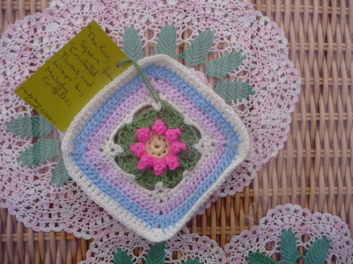 'The Rose Square' from 'Crocheted Throws and Wraps' by Melody Griffiths.