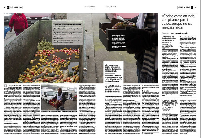 Reportaje sobre reciclaje de comida