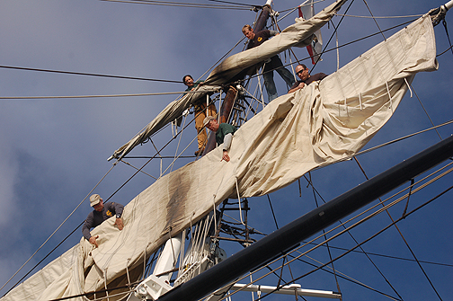 Californian furling sail