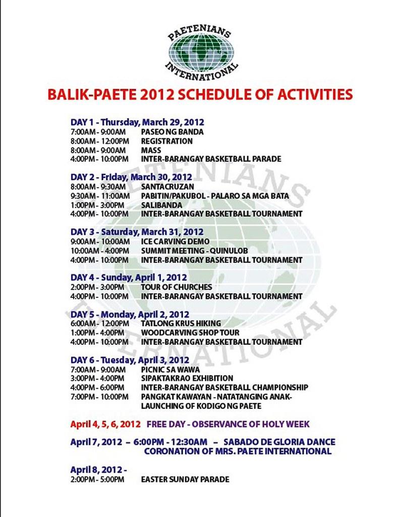 bp activities