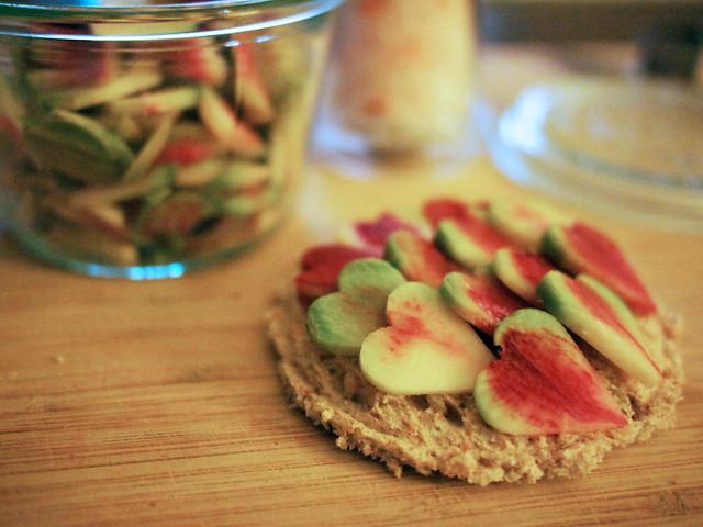 Valentine's Radish Sandwich