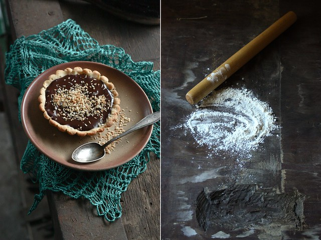 coconut chocolate tart
