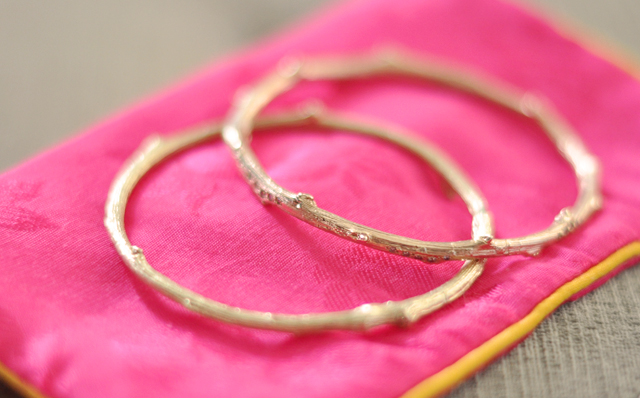gold branch bracelets with   diamonds