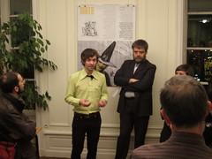 """Vernissage de l'exposition """"Berlin dans tes marges"""", de Sed Ocyan à la Maison de l'Europe (Décembre 2011)"""