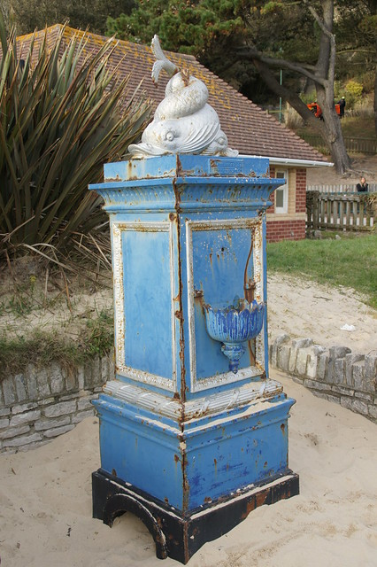 Disused Drinking Fountain by Andrew Handyside, Alum Chine, Westbourne, Bournemouth, Dorset