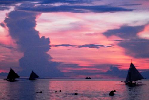 sunset sunrise boracay 帆船 長灘島 hanksun hanksun88 孫銘毅