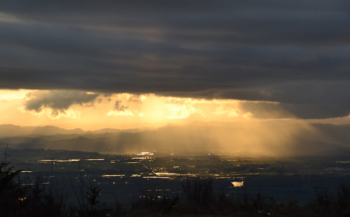 sunset clouds oregon nikon april d3100