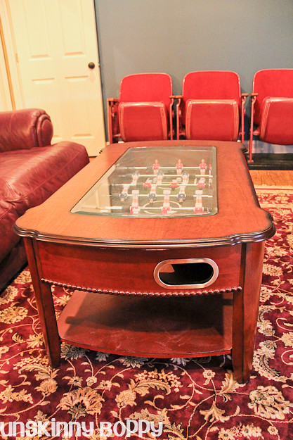 foozball coffee table