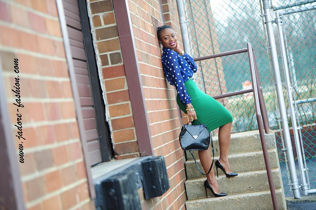 Green & Polka Dots by jadore-fashion.com