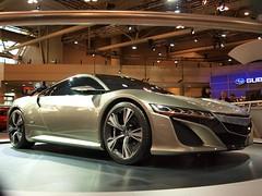automobile(1.0), automotive exterior(1.0), wheel(1.0), vehicle(1.0), performance car(1.0), automotive design(1.0), auto show(1.0), honda nsx(1.0), concept car(1.0), land vehicle(1.0), luxury vehicle(1.0), supercar(1.0), sports car(1.0),