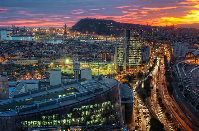 View – Vista de Barcelona (Spain), HDR