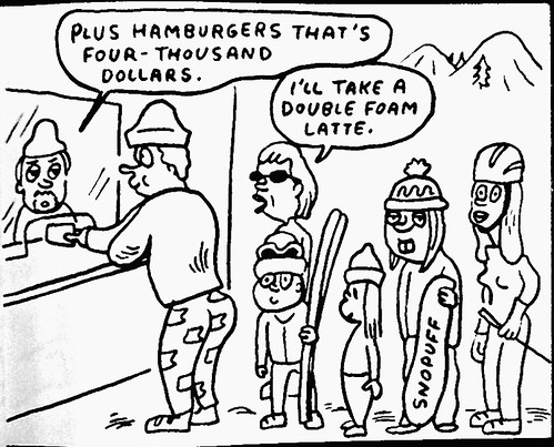 Plus hamburgers by Lloyd Dangle