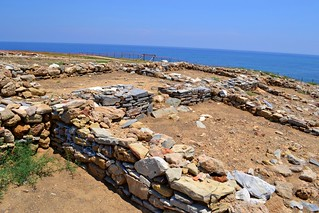 Palamari looking east over the central structures, Skyros, June 2011