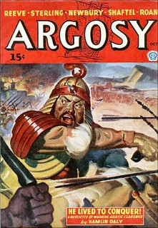 138b Argosy (Canada) Oct-1943 Includes He Lived to Conqueror by E. Hoffmann Price as by Hamlin Daly