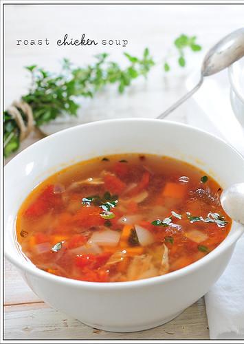 roast chicken soup6