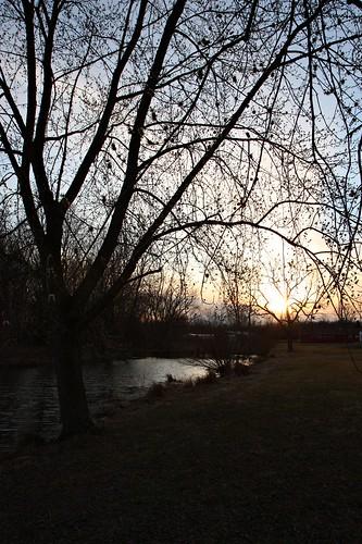 sunset newjersey spring pond lumbertown rudderow woodsreflection