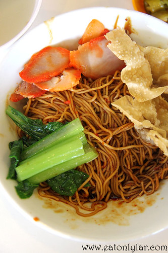 Wantan noodles in chilli and black sauce, Pontian Wanton Noodles