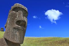 [フリー画像素材] 建築物・町並み, 遺跡, モアイ像, 風景 - チリ ID:201203021200