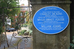 Photo of Charles Dickens, Myles Birket Foster, and William Adams blue plaque