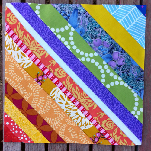 April dGS Rainbow String Block for Shannon