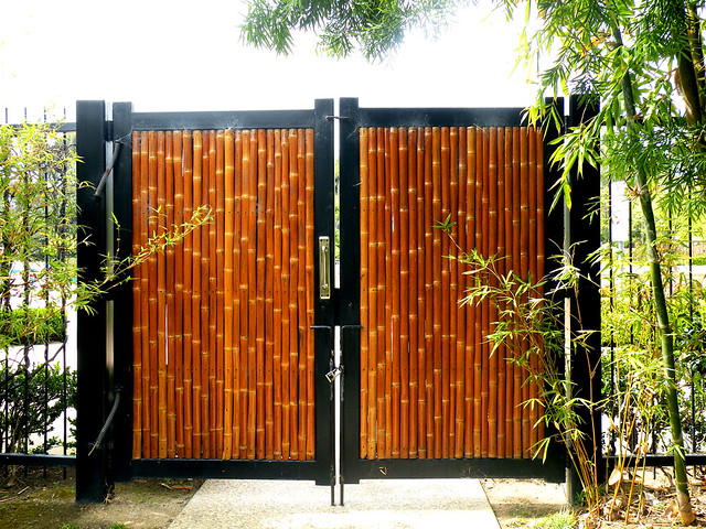 Japanese Garden Bamboo Gate