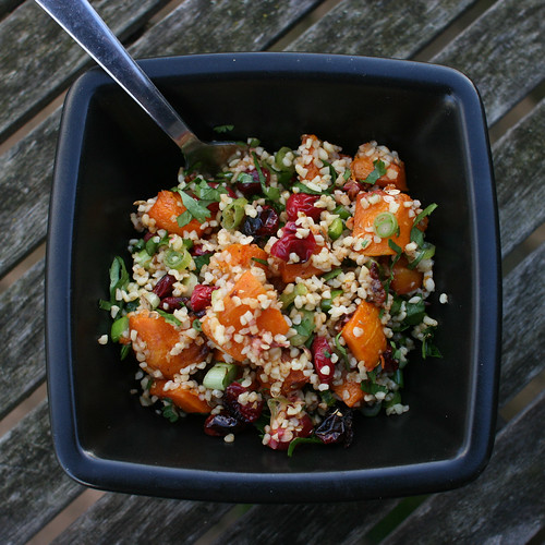 Roast Butternut & Cranberry Salad with Bulgar