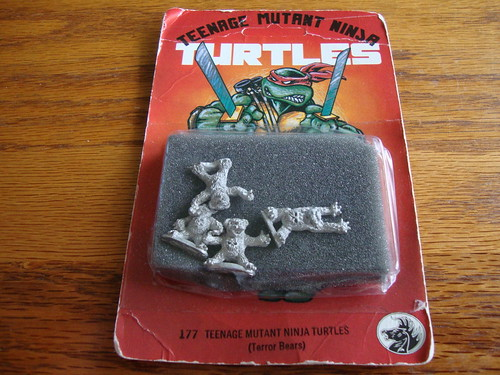 "Dark Horse Miniatures :: TEENAGE MUTANT NINJA TURTLES - ""The Terror Bears"" { 15 mm } .. card i (( 1986 ))  [[ Courtesy of Middle-Earth-Mafia ]]"
