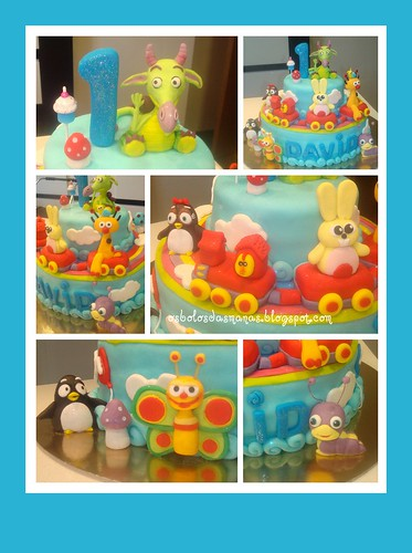 Detalhes bolo Baby TV 4 by Osbolosdasmanas