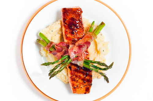 Red Pepper Glazed Salmon