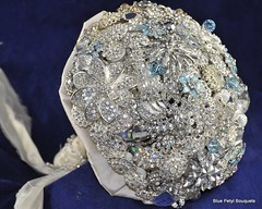 Empress Crystal Brooch Bouqet by Blue Petyl Bouquets