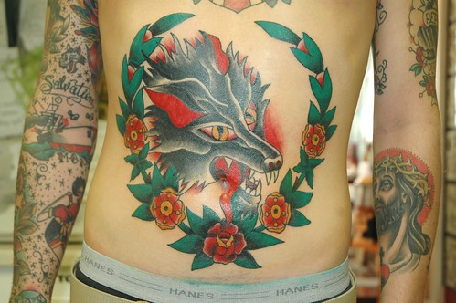 keelhauled mike wolf head tattoo by keelhauled mike of black anchor tattoo. Black Bedroom Furniture Sets. Home Design Ideas