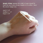 Thumbnail image for Bangle Bracelets for Thin Wrists (and How to Measure What Size Bangle You Need)