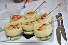 Crema de repollo con calabacin y bacon