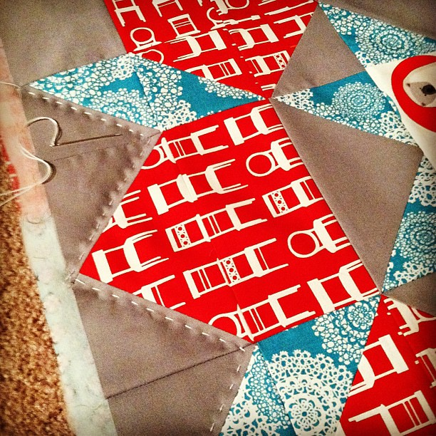 Hand quilting my swoon! I do not know what I'm doing but I like it!