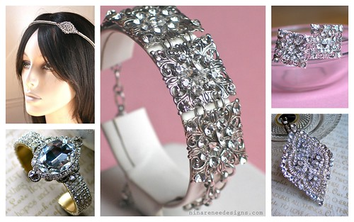 {Vintage Glam Accessories} Bridal Style by Nina Renee Designs