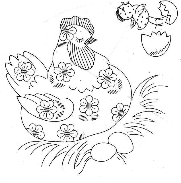 daisy chicken pattern