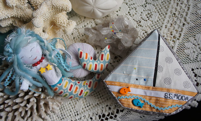 Mermaid and Boat Pincushions