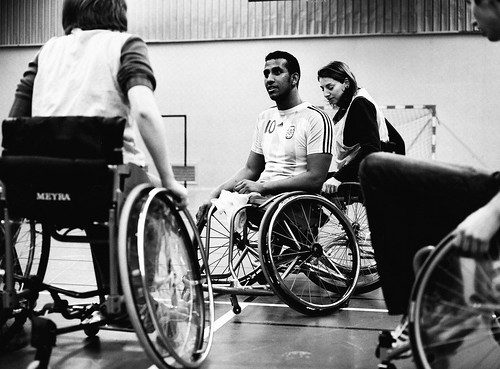 Halftime break - Disabled basketball