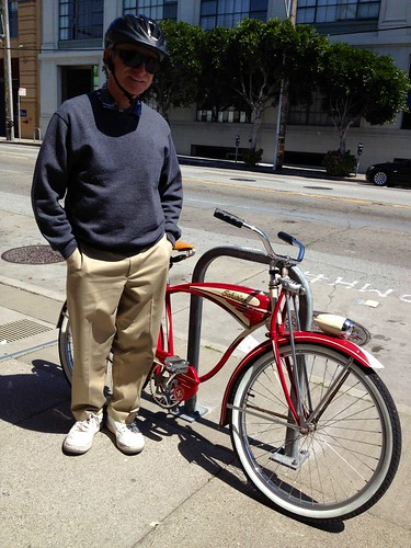 Owner & his 1951 Schwinn
