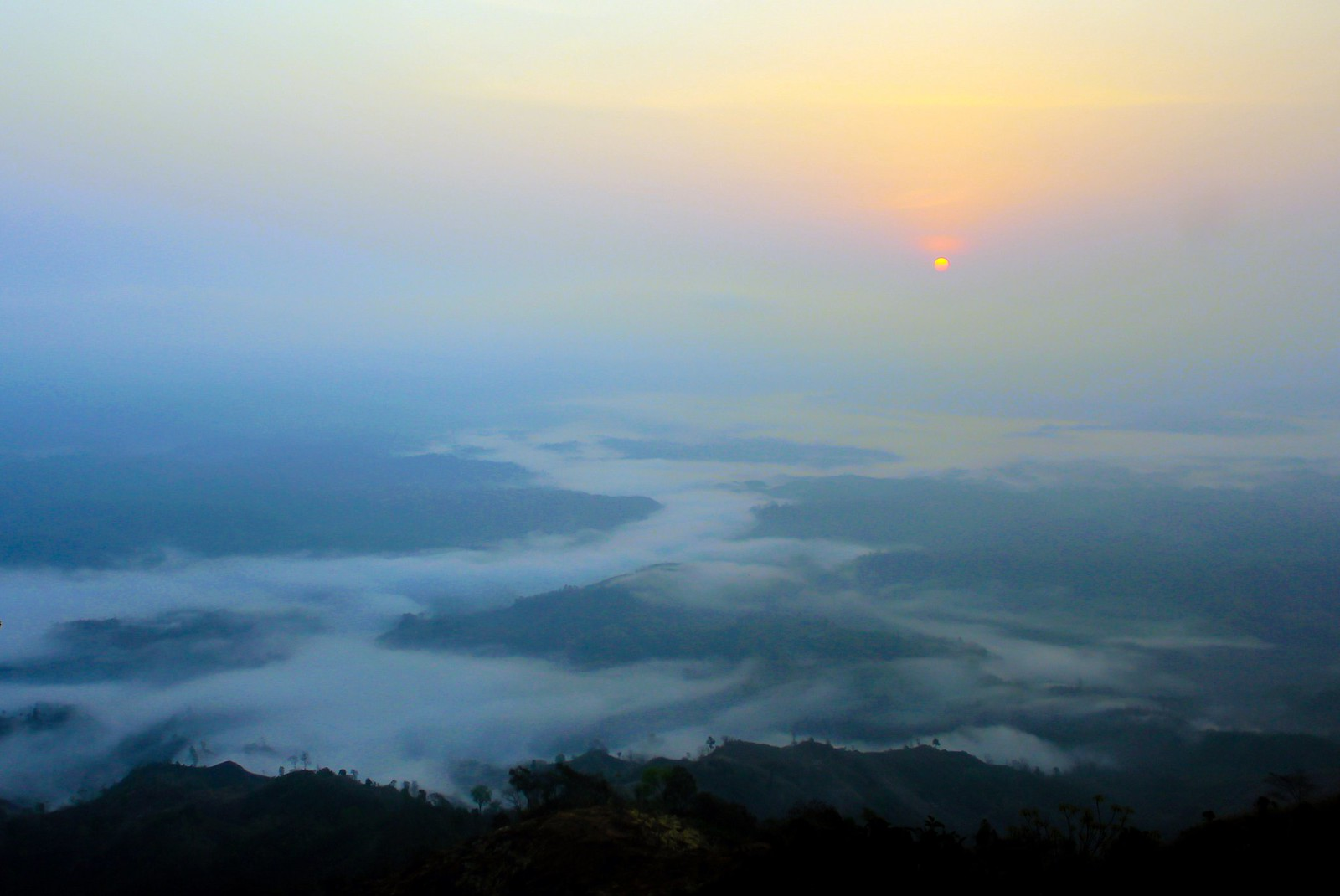 sunrise at Nilgiri, Bandarban