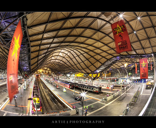 Southern Cross Railway Station, Melbourne | Fisheye :: HDR